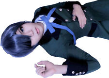 Cosplay wig for Black Butler Ciel Grey Blue