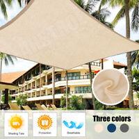 Shade Sail Net Sun Cloth Awning Shadecloth Outdoor Canopy Rectangle Triangle PE