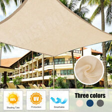 Shade Sail Net Sun Cloth Awning Shadecloth Outdoor Canopy Rectangle Triangle PE