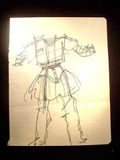 Nights Armor 1946-59 Original Ink Sketch By C. Kelm