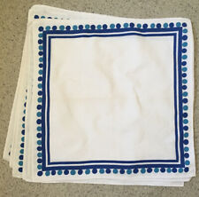 Cotton Napkins Blue And White X 6