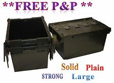 3 New Large Black Diving Equipment Plastic Storage Crates 80L