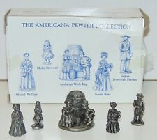 Americana Pewter Collection 5 solid pewter figurines Ah71 bad box pre-owned