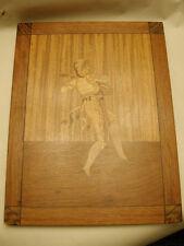 Antique Pool/Brunswick/Billiard Marquetry Picture Dancer