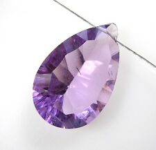 LARGE BRAZILAIN AMETHYST FACETED PEAR CONCAVE CUT BEAD PENDANT 13-14 mm  S22