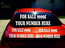 !! 3 signs !!  CAR / CARAVAN / VAN FOR SALE SIGN STICKERS bigger than others