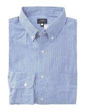 J Crew Factory - Men's XXL - Regular Fit - Classic Blue Pin Striped Cotton Shirt