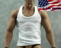 """1/6 Men Clothes Tank Top Sports Vest For 12"""" Hot Toys PHICEN TBLeague Figure"""