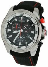 Citizen Eco-Drive Chronograph Sports Nylon Strap Men's Watch AT0975-04E