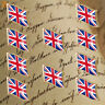 10PCS UK Enamel Flag Brooch Butterfly Buckle Clothing Accessories Pins Badges