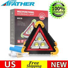 Car Triangle Emergency Warning Led Work Light Portable Cob Safety Flashing Sign