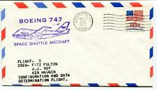 1977 Boeing 747 Space Shuttle Aircraft Flight 3 Fulton Roy Huagen Edwards USA