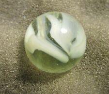 "Vintage Peltier Caged Cat's Eye Marble 20/32"" Vaseline - UV"