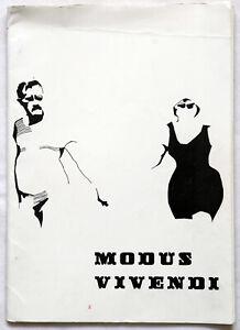 Modus Vivendi Vintage Sixties Fanzine Vol. 1 No. 1 First issue 1966 Zine Adzine
