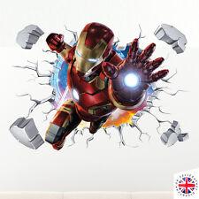 3D IRONMAN Wall Sticker Vinyl Art Home Bedroom Marvel Poster Avengers Hulk Thor