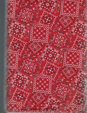 Blazin' Bandana Red 100% Cotton Fabric priced by 1/2 yd
