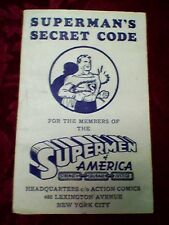 SUPERMAN SECRET CODE, SUPERMAN OF AMERICA, 1948