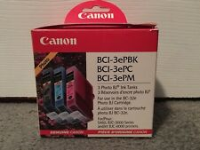 Canon BCI-3E Multipack Value Genuine Ink Cartidges Black Cyan Magenta Free Ship