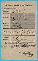 Postscheine Preußen HOYERSWERA, RB Liegnitz! Seltener Schein aus 1841!