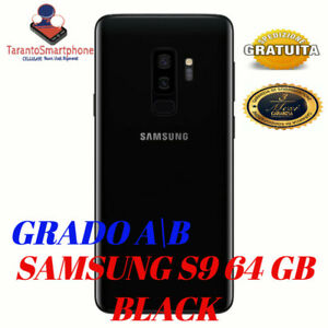 SAMSUNG GALAXY  S9 - 64GB - BLACK USATO GRADO AB