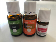 Young Living Orange & Lime Essential Oil 15 ml & Grapefruit Vitality 5ml