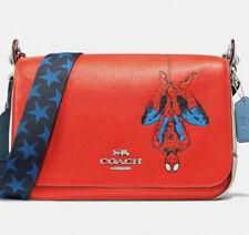 ⭐️ New NWT Coach Marvel Jes Messenger Red Leather Spiderman Crossbody Bag 2900