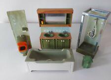 More details for vintage dolls house lundby + avocado bathroom suite shower dresser toilet bath
