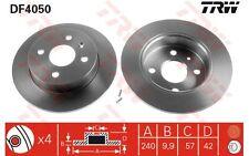 TRW Juego de 2 discos freno Trasero 240mm OPEL ASTRA MERIVA FIAT DUCATO DF4050