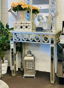 """Brand New- Luxury Mirrored Console Table / Dressing Table Silver 78.5"""""""