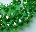 6x8 mm,Multicolore vert ,naturel facetté cristal , perles lâches , 68 pcs