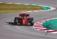 Sebastian Vettel 2019 Ferrari Hand Signed Formula 1 F1 Photo Autograph