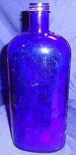 RP1572 Vtg Large Medicine Bottle Cobalt Blue Glass