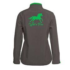 Horse softshell jacket wild n free resistant sizes 6-24 brand new