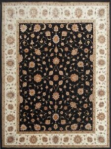 9'x 12' Rug Hand Knotted Ivory Wool & Silk Area Rug