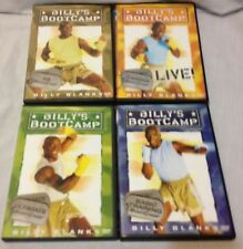 4 Billy's Bootcamp tae bo workout DVD lot basic ultimate training ab cardio live