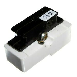 Wylex Fuse Carrier and Base 5A 15A 20A 30A 45A White Blue Yellow Red Green