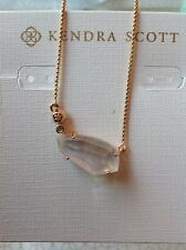 NWT Kendra Scott Barbara Pendant Necklace Rose Gold Ivory Pearl CZ w Box & Bow