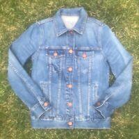 Madewell Denim Blue Jean Trucker Jacket F0370 Medium Wash Retail $118 Size XS