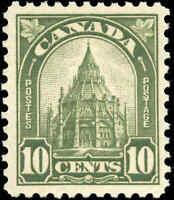 1930 Mint NH Canada F-VF Scott #173 10c King George V Arch/Leaf Stamp