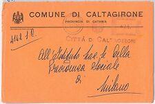 ITALIA  REPUBBLICA storia postale - BUSTA COMUNALE di CALTAGIRONE 1959