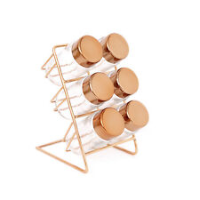 Copper Spice Rack with 6 Copper Jars