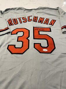 Adley Rutschman Baltimore Script Style Autographed Custom Gray Jersey. JSA