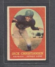 1958 Topps Football #70 Jack Christiansen (Lions)  Vg (Flat Rate Ship)