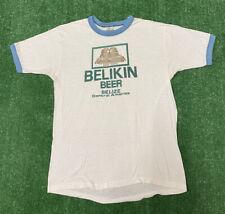 Vintage Belikin Beer Shirt 80s Single Stitch Printed Mens Size L