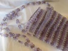 "Purple Glass Beaded Shoulder Bag Purse DRESSY Small  4 1/2"" X 6"" NWOT"