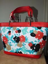L K Bennett beautiful floral tote with leather trimming