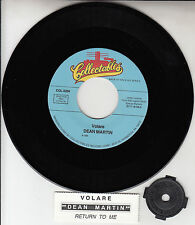 "DEAN MARTIN Volare & Return To Me 7"" 45 rpm vinyl record + juke box strip NEW"