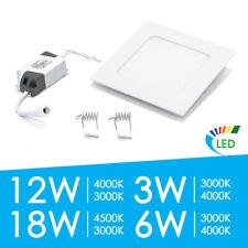 LED Panel 3 - 18W Einbaustrahler Deckenleuchte Einbaupanel Ultraslim mit Trafo
