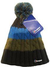 Berghaus Woolly Bobble Hat Blue And Khaki BNWT