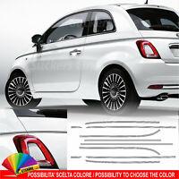 Fasce adesive Fiat 500 strisce bordini striscette sottili carrozzeria fascette